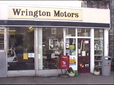 Wrington Motors forecourt